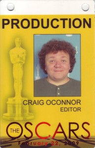 My badge from the 2009 Academy Awards